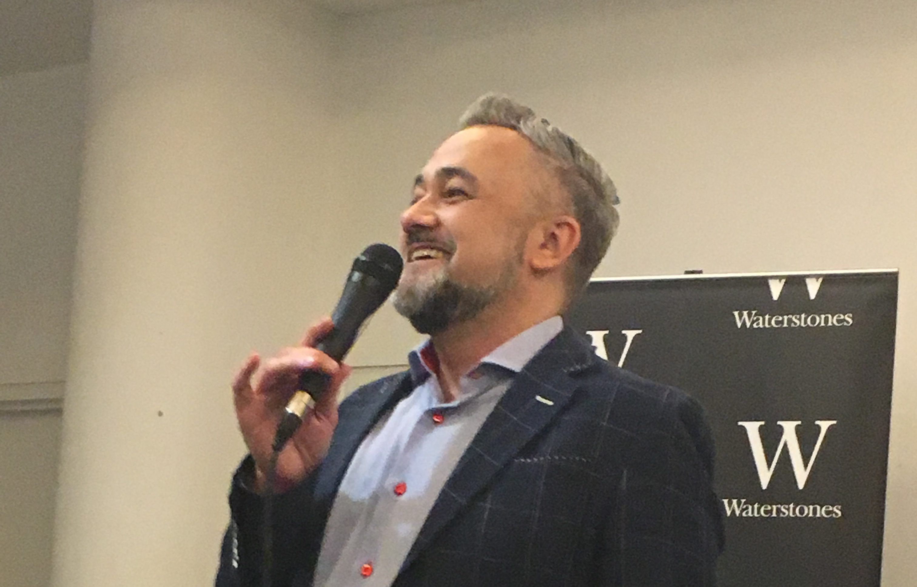 Warren Knight launching his book at Waterstones